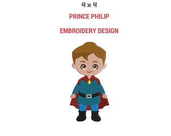 Prince Philip Embroidery Design | Machine Embroidery Design | Prince Philip And Princess Aurora Embroidery | Sleeping Beauty Prince Design