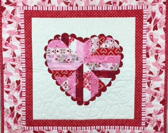 Old Love Valentine Quilt Wall Hanging