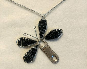 Black Dragonfly Luggage Zipper Pull Pendant