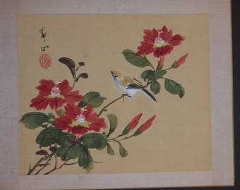 Painting China silk painted on paper