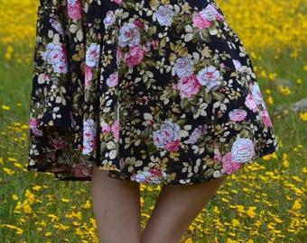 Women's Skirt / Flower Skirt / Full Skirt / Flared Skirt