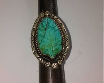 Hand Carved turquoise stone ring