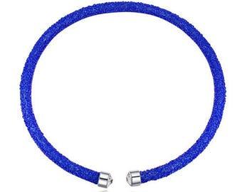 Austrian crystal necklace blue