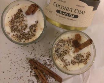 Coconut Cinnamon Chai Soy Candle 8 oz Mason Jar Size