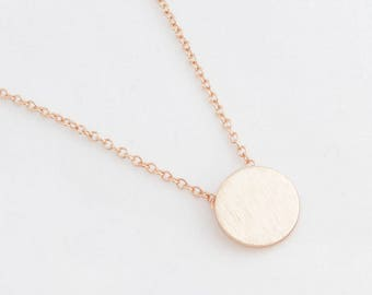 "Circle Necklace ""Plate"" rose gold"