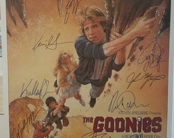 The Goonies - Original hand-signed poster 27x40