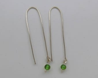 Modern Silver Dangle Earrings