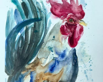 LIMITED EDITION 1/20, signed Chicken Scratch original watercolor PRINT