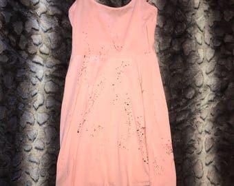 Pink Splatter Dress