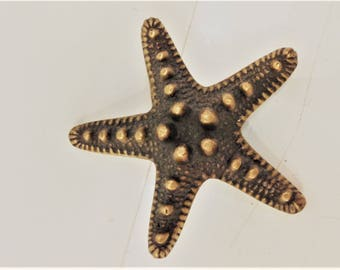 Brass Starfish Door Handle