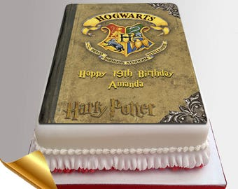 Icing Cake Topper 11x7 Inch Harry Potter Spell Book