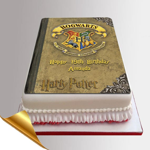 harry potter cake topper icing cake topper 11x7 inch harry potter spell book 4731