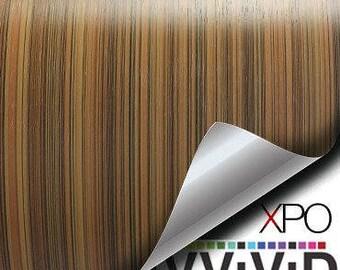 VViViD Striped Maple Wood Grain Faux Finish Textured Vinyl Decal