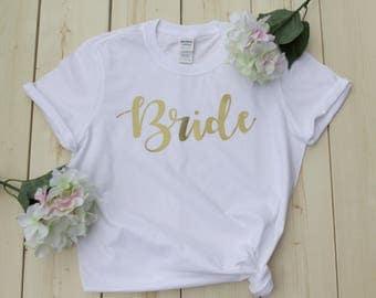Bride Shirts, Bridal Party Shirts, Bridesmaid Shirts, Wedding Gift, Bridesmaid Gift, Bachelorette Party Shirts