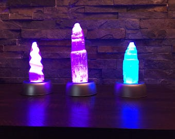 Selenite on LED Light box