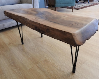 Natural Walnut 112x51x52x6 Cm coffee table