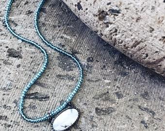"The ""début"", marble and teal wrap bracelet"