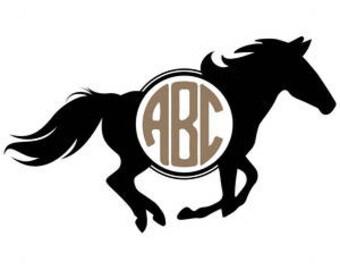 Horse Monogram SVG