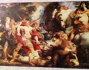 painting on wood -Rubens painting -nice gift painting , transfer on wood
