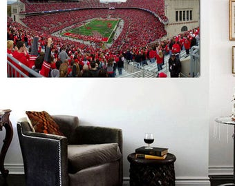 Ohio State Football Stadium Panoramic Canvas Print Large 36 X 20 The Ohio  State Part 69