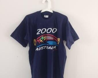 Vintage 2000 Summer Olympics of Sydney Austalia T-Shirt - Size M