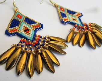 "BO ""Inca"" woven in glass beads"