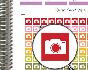 Camera Planner Stickers Camera Stickers Planner for Erin Condren Planner Happy Planner Photo Stickers Photo Planner (i21)