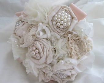 Fabric Brides Brooch Bouquet