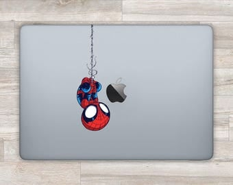 Spiderman MacBook Decal Superhero MacBook Sticker Marvel MacBook MacBook Pro Retina Laptop Decal Laptop Sticker Apple Logo Spider man bn820