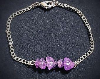 Amethyst Bar Bracelet