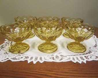 Vintage Amber Dessert Bowls