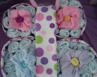 butterfly diaper cake