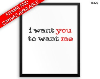 I Want You Canvas Art I Want You Printed I Want You Love Art I Want You Love Print I Want You Framed Art I Want You desire