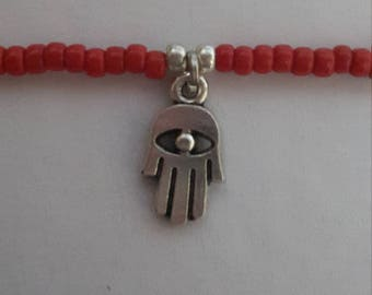 Kabbalah BRACELET with Hamsa charm (Hand of God), Red String