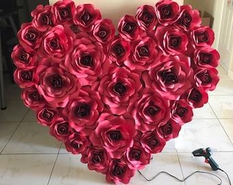 paper flowers heart