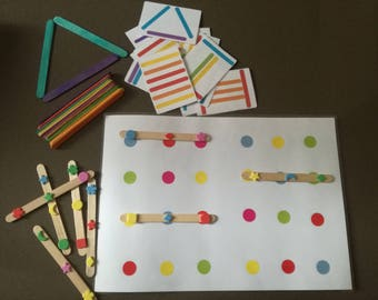 2 educational games sticks shapes and colors