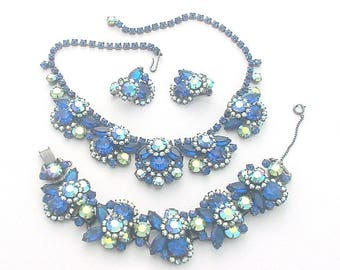 Vintage Juliana Rhinestone Set - Necklace Bracelet Earrings Parure
