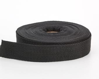 "Polypropylene webbing, 2"" Wide, 10 yds, Black"
