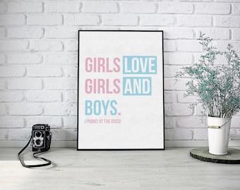 GIRLSGIRLSBOYS - Panic! at the disco - A4 Poster - High Gloss