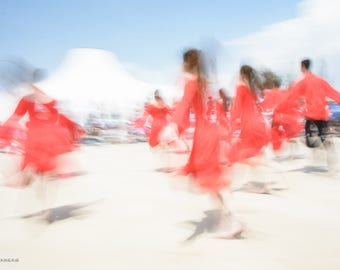 Abstract Jerusalem dancers, Dance photography, Dancers in red # 1