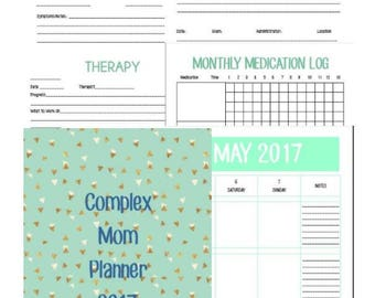 Complex Mom Medical Planner 2017 Printable