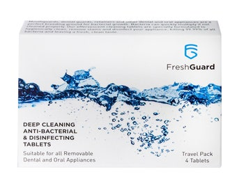 FreshGuard - Deep Cleaning, anti-bacterial & disinfecting tablets - Suitable for all removable dental and oral appliances
