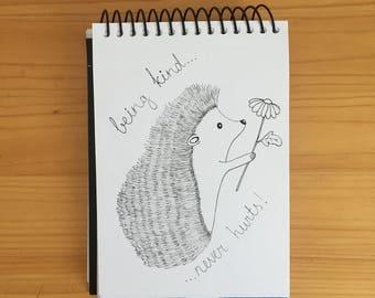 being kind never hurts, Hedgehog illustration