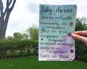 Daily Choices