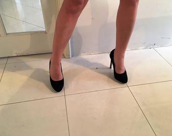 Betts Black Suede Heels size 6