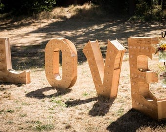 4 Foot Tall Love Marquee Sign