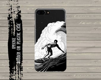 Surfer, Surf iPhone 7 case iPhone 7 Plus Case, iPhone 6 / 6s / 6 Plus Case, iPhone 5s / SE / 5 Case, Hard plastic/ rubber case.
