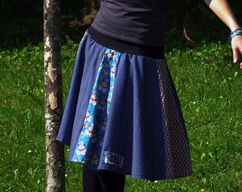 Gala skirt with blue jean sides T38-40