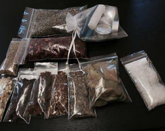 Wicca Sleep Aid Herbal and Crystal Kit