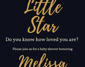 Baby Shower Invitation(Two different options, purchasing doesn't give you both options only one) (Digital Download,Customizable)